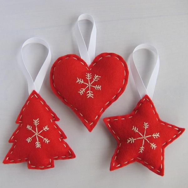 selbst-gemachte-Dekoration-für-den- Weihnachtsbaum-