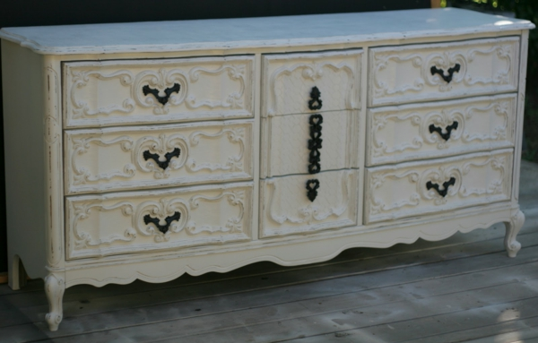 Shabby chic kommode 40 super modelle for Weisse kommoden mit schubladen