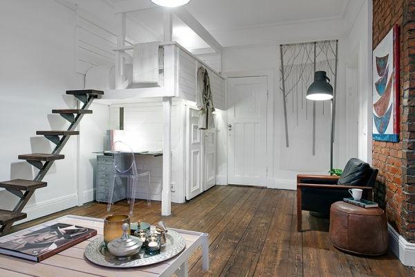 skandinavische-einzimmerwohnung-einrichten-mit-treppen