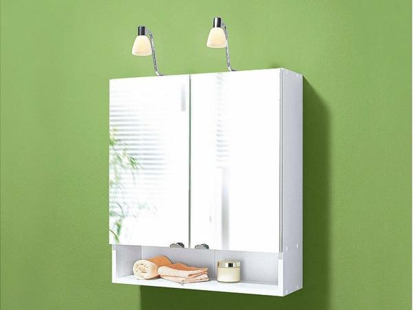 Badezimmer Spiegelschrank mit Beleuchtung   schöne Ideen!