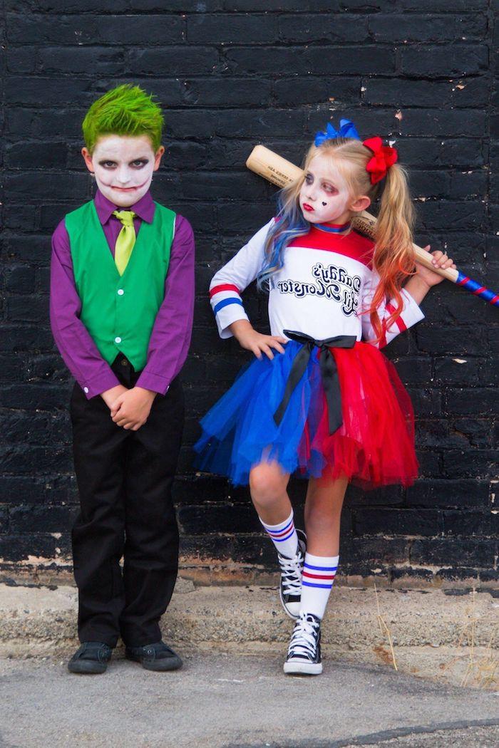 suicide squad horror kostüm jungs mädchen joker und harley quinn verkleidung superhelden inspiration und ideen