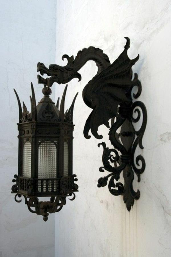 drachen wandlampe drachenlampe gothic lampe smash. Black Bedroom Furniture Sets. Home Design Ideas