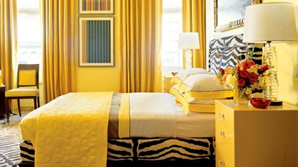 super-süße-gelbe-farbgestaltung-im-schlafzimmer