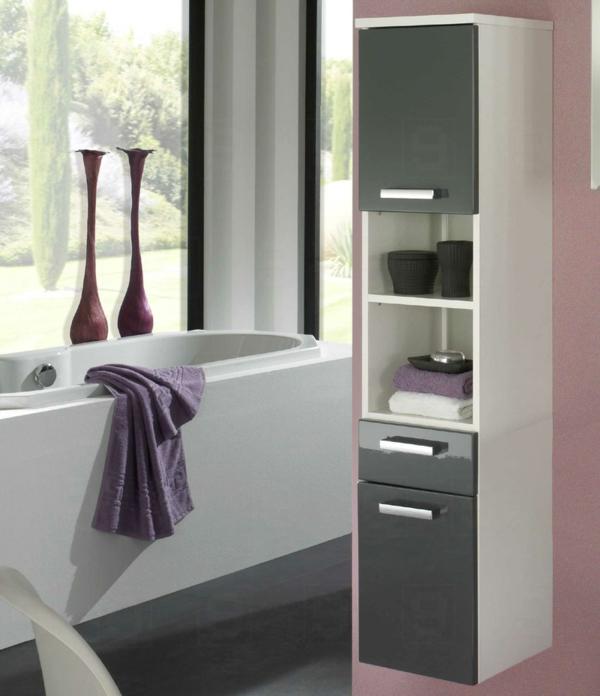 super-schöner-Hochschrank-für-Badezimmer-grau