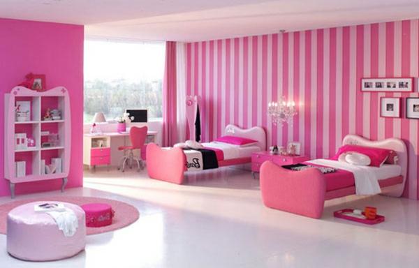 super-schönes-Design-Schlafzimmer-in-Rosa