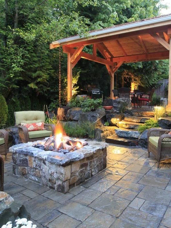 Feuerstelle im garten 36 prima designs for Gartengestaltung quadratischer garten