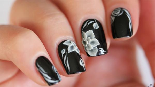 super-tolle-Fingernägel-Design-Ideen-Blumen