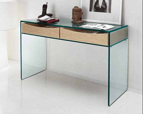 super-toller-gläserner- Schreibtisch-mit-zwei-Schubladen
