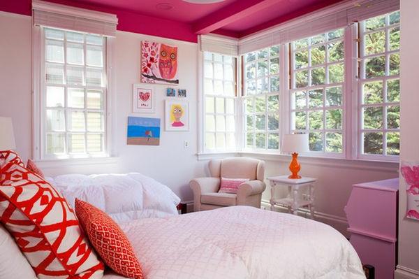 Mädchenzimmer Design in Rosa