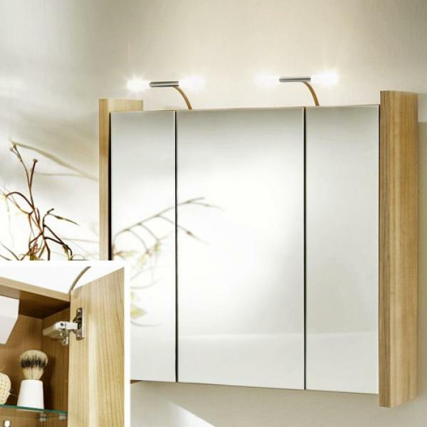 Spiegelschrank Mit Beleuchtung Holz | Gispatcher.Com