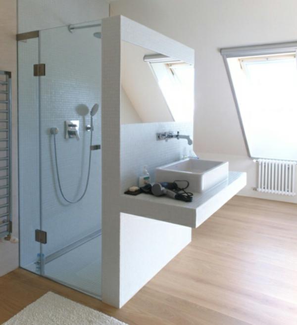 Moderne duschkabine f r das badezimmer - Holzboden fur badezimmer ...
