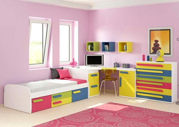 tolles-Kinderzimmer-Schlafzimmer-in-Rosa