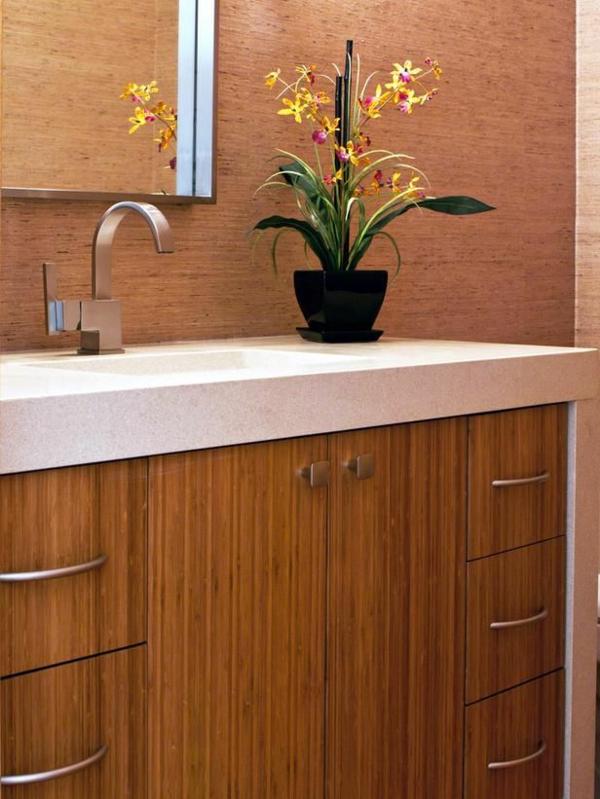 traditionelle-Waschbeckenunterschränke-aus-Bambus