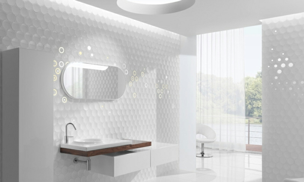 Moderne badezimmer fliesen weiß  Moderne Badideen für Fliesen! - Archzine.net