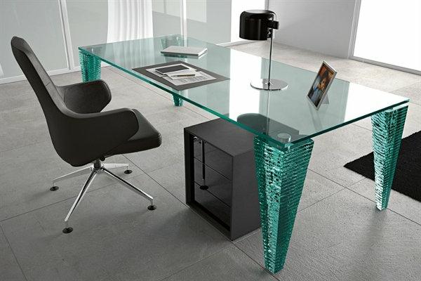 ultra-moderne-Schreibtische-Glas-Design