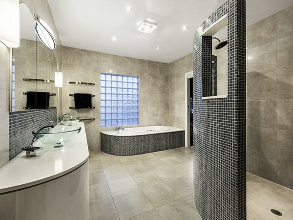 Modernes badezimmer inspirierende fotos for Wohnideen bad