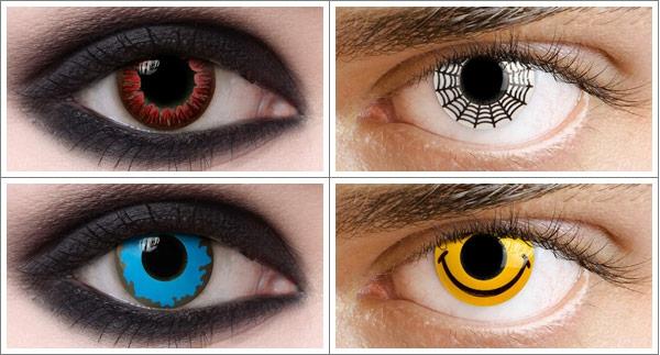 vier-bilder-von-kontaktlinsen-für-halloween