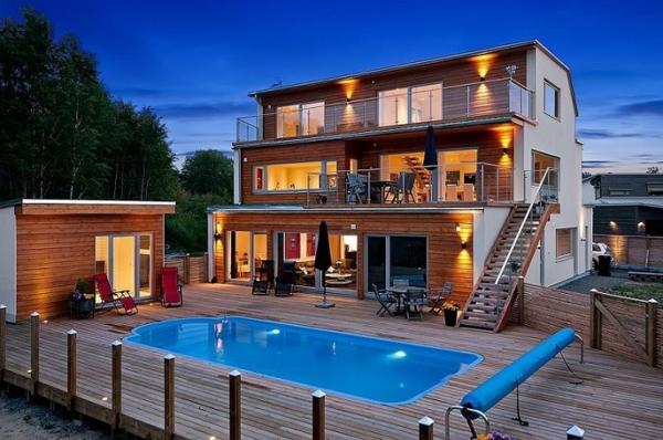 villa-mit-pool-in-schweden-ferienhaus