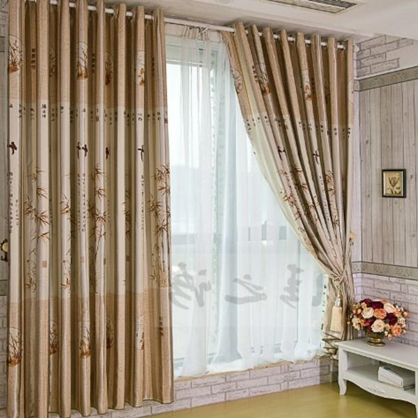 Vorhänge Ideen Für Schlafzimmer Beige Und Elegant