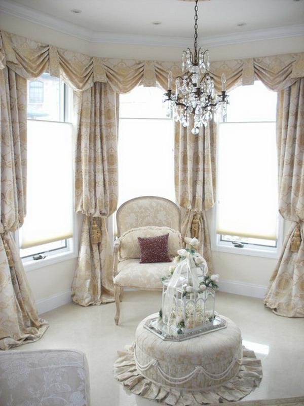 vorhänge-ideen-für-schlafzimmer-elegante-helle-gardinen