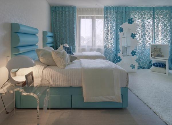 vorhänge-ideen-für-schlafzimmer-schönes-blau