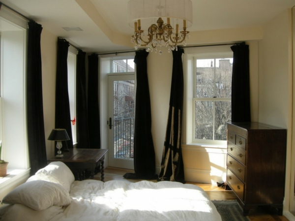 schlafzimmer vorh nge ideen inspiration. Black Bedroom Furniture Sets. Home Design Ideas