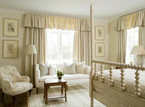 Vorhänge Ideen Für Schlafzimmer Weiß Gestaltet