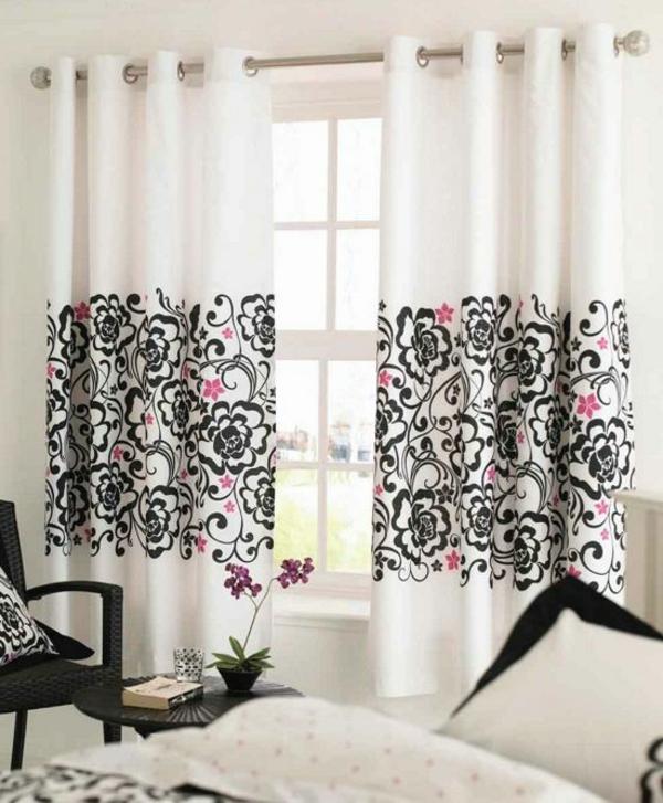 schwarze und wei e vorh nge m belideen. Black Bedroom Furniture Sets. Home Design Ideas