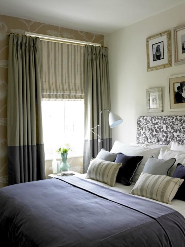 30 super vorh nge ideen f r schlafzimmer. Black Bedroom Furniture Sets. Home Design Ideas