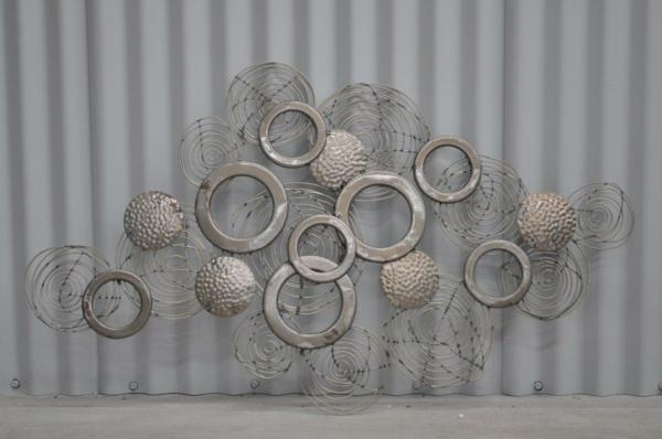 Runde Dusche Glasbausteine : interessante kreative metall wanddeko – runde formen