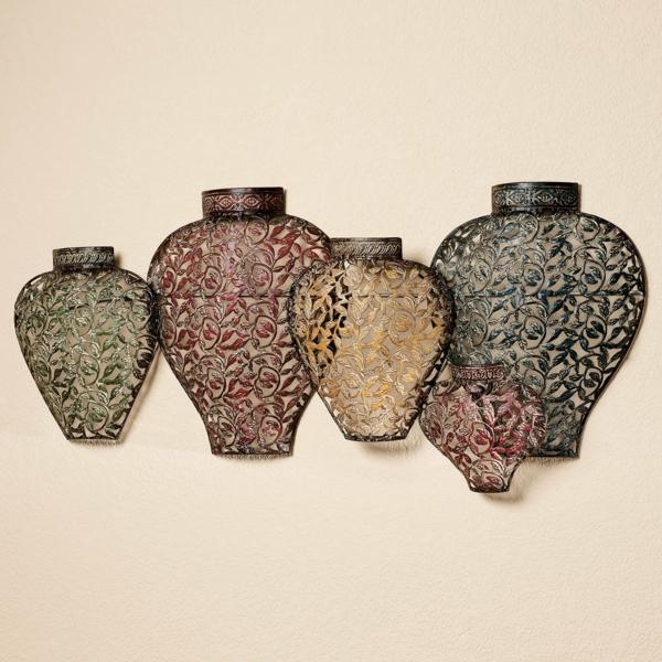 Wanddeko Aus Metall Schne Vasen