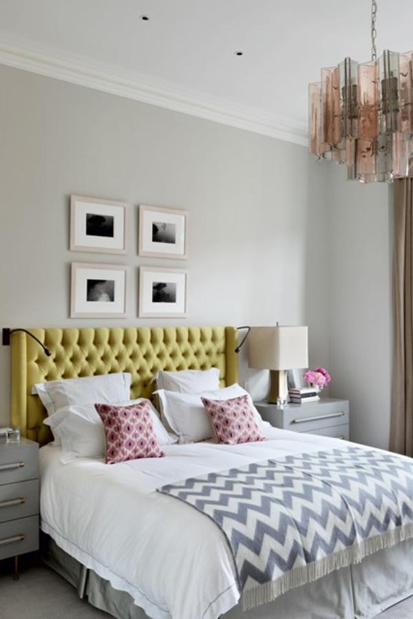 wandfarbe-hellgrau-gemütliches-schlafzimmer