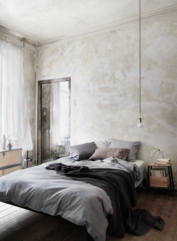 Hoher Flur Gestaltung : Wandfarbe Hellgrau für eine moderne Schlafzimmer – Gestaltung