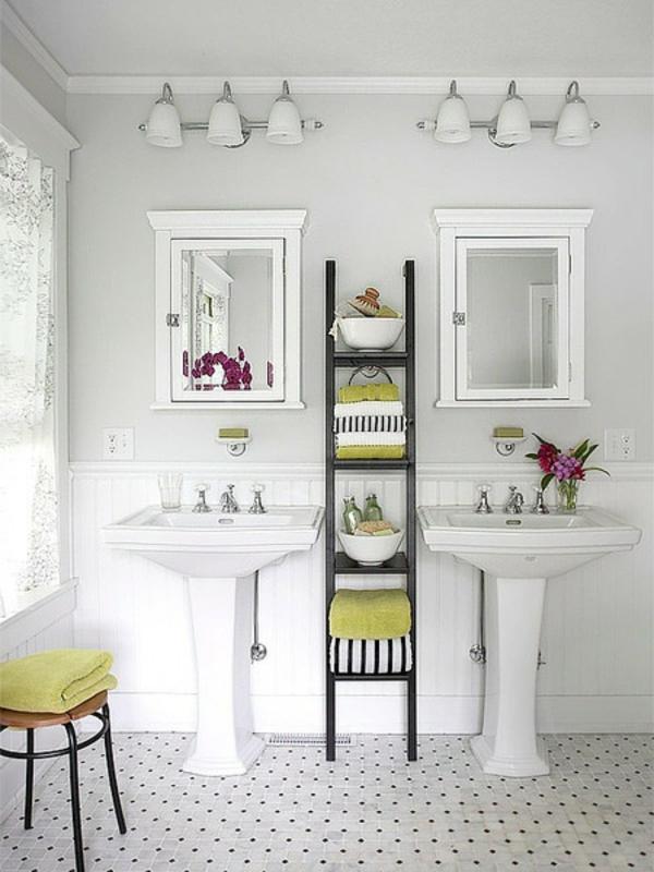 wandfarbe-hellgrau-süßes-badezimmer