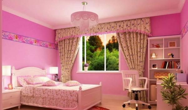Schlafzimmer -in-Rosa