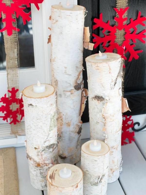 weiße-Kerzen-Birken-Dekoration-