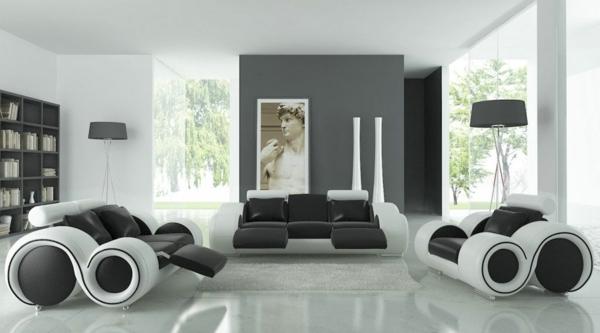 30 fotos von origineller wohnzimmer wandgestaltung. Black Bedroom Furniture Sets. Home Design Ideas