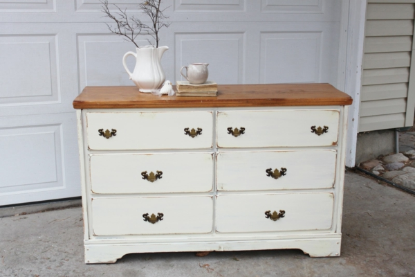 Shabby chic kommode 40 super modelle for Weisse kommode schubladen