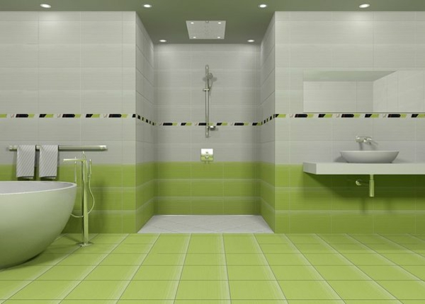 green and white bathroom ideas moderne badideen f 252 r fliesen archzine net 23892