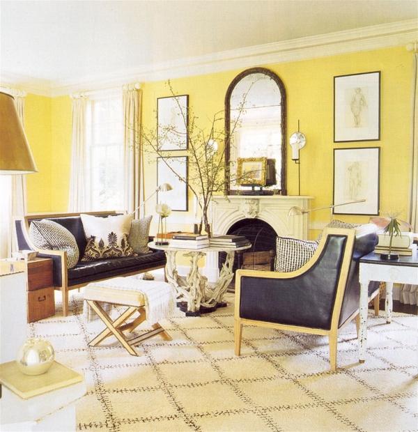 wohnraum gestaltung-in-gelb