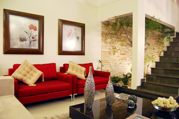bilder von wohnzimmer mit roten sofa ~ surfinser.com - Wohnzimmer Ideen Rote Couch