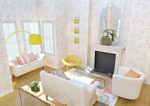 wohnraumgestaltung-weiße-farbe