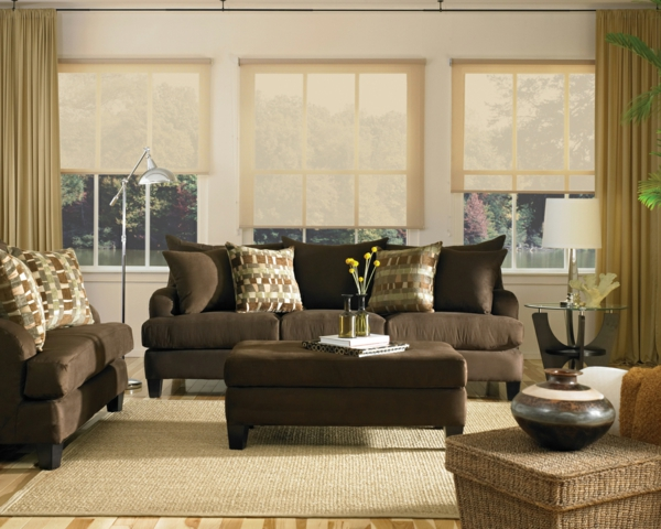 Wohnzimmer Ideen Braunes Sofa