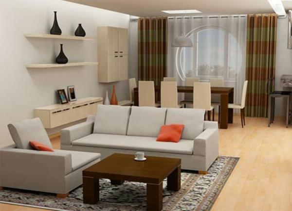 2017 Wohnzimmer Ideen Graues Sofa