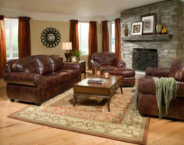 cooles bild wohnzimmer:cooles design vom wohnzimmer – braune ledermöbel
