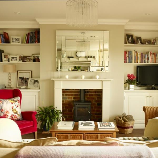 wohnzimmer-ideen-weißer-kamin