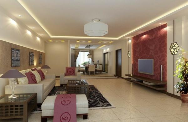 wohnzimmer-wandgestaltung-helle-einrichtung