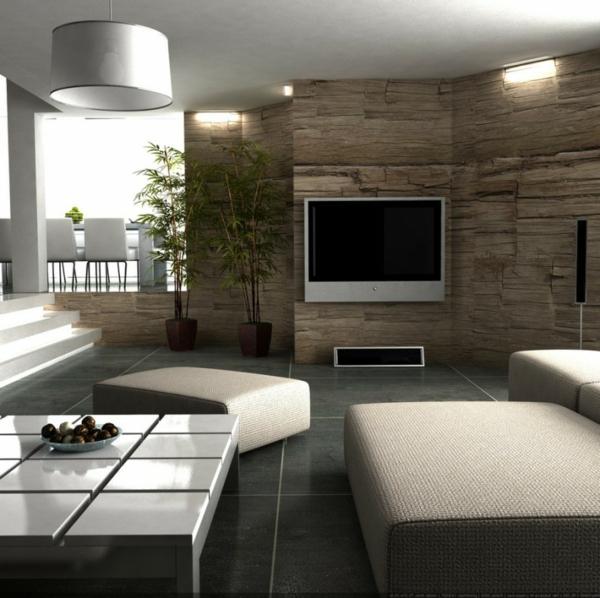 Wohnwand wei modern