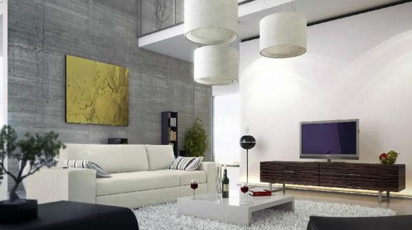 Moderne Wandgestaltung Wohnzimmer – vitaplaza.info