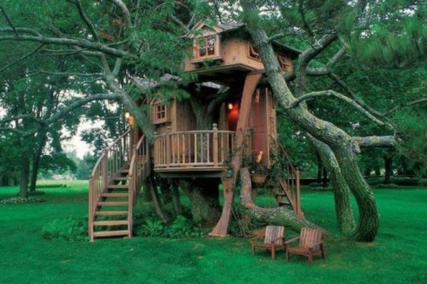 wunderbare-Baumhäuser-bauen-im-Garten-